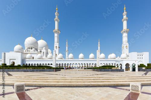 Foto op Canvas Abu Dhabi Scheich Zayed Große Moschee Abu Dhabi Sheikh Minarette Vereinigte Arabische Emirate