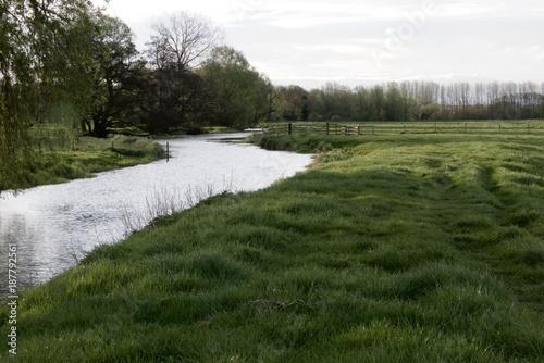 Fotobehang Wit River Waveney, Outney Common, Suffolk, England