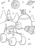 Space Base Vector Illustration Art