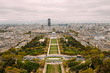 View of Paris, France from Eiffel Tower
