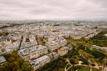 View of the City of Paris from Up High