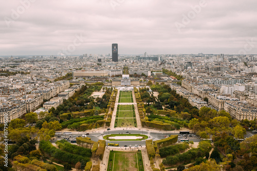 View of Paris, France from Eiffel Tower - 187796580