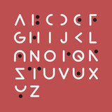 Vector of modern font and alphabet - 187803388