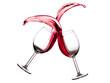 Quadro Glass of red wine splash