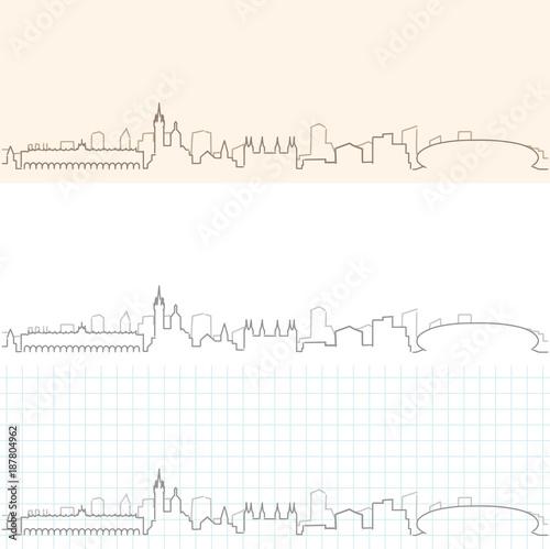 Kraków ręcznie rysowane panoramę