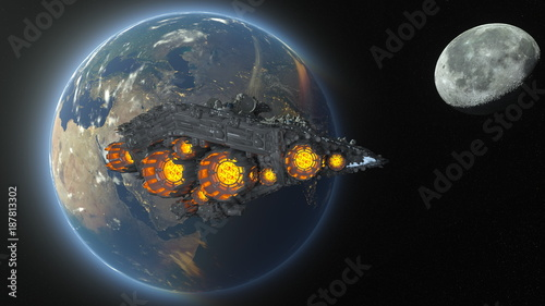 abstrakcja,-planety,-kosmos,-lot-wahadlowca