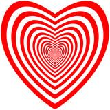 Fototapeta  - op-art heart © ZYTA.eM