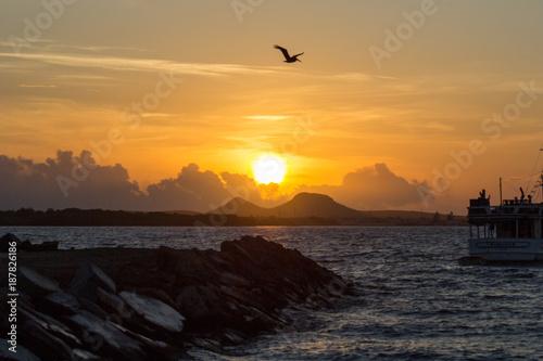Keuken foto achterwand Zee zonsondergang Amanecer en las Tetas de Maria Guevara 2