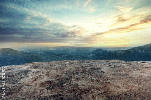 mountain land scape