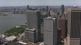 New York City, New York circa-2017, Flying by Battery Park and lower Manhattan.  Shot with Cineflex and RED Epic-W Helium.  - 187837794