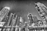 DUBAI, UAE - DECEMBER 5, 2016: Dubai Marina skyline at night. The city attracts 30 million tourists annually - 187839771