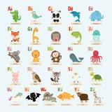 set of cute animal alphabet.