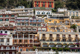 Small town of Positano along Amalfi coast with its many wonderful colors and terraced houses, Campania, Italy.