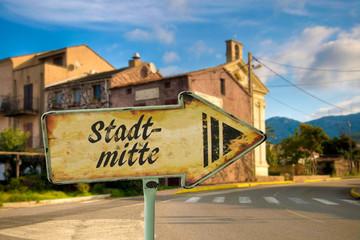 Schild 198 - Stadtmitte