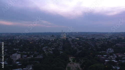 Washington, D.C. circa-2017, Aerial approach to US Capitol from East Capitol Street.  Shot with Cineflex and RED Epic-W Helium.