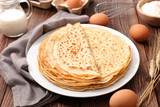 delicious crepe with ingredient - 187859582