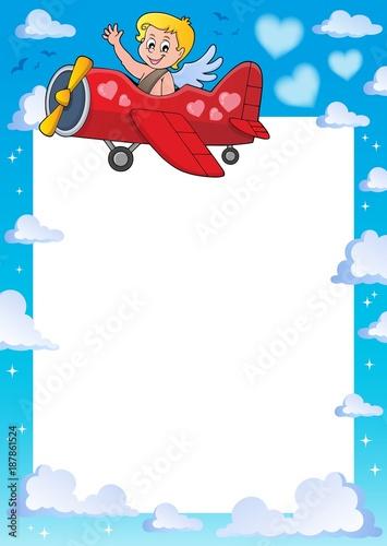 Foto op Plexiglas Voor kinderen Cupid thematics frame 3