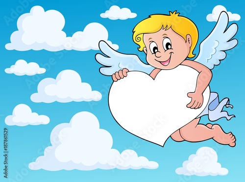 Deurstickers Voor kinderen Cupid thematics image 8