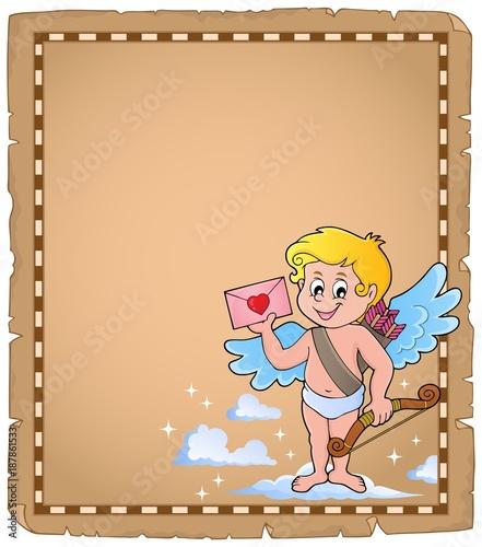 Deurstickers Voor kinderen Cupid topic parchment 6
