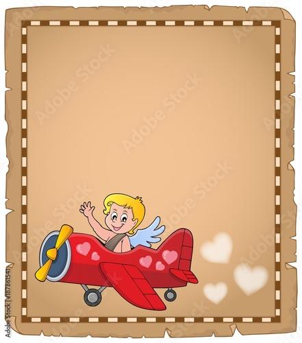 Deurstickers Voor kinderen Cupid topic parchment 7