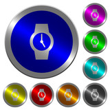 Watch luminous coin-like round color buttons - 187865717