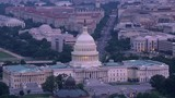Washington, D.C. circa-2017, Aerial view of Capitol Building and Pennsylvania Avenue.  Shot with Cineflex and RED Epic-W Helium.  - 187868731