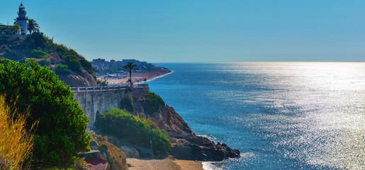 Coastline in summer Spain