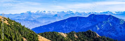 Foto op Canvas Donkerblauw rotwand mountain