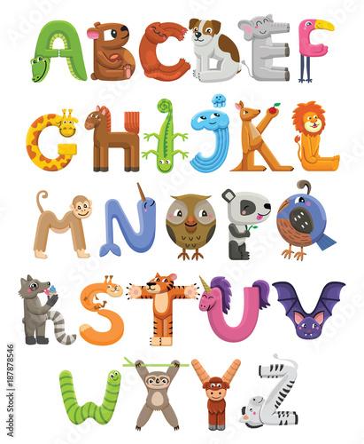 alfabet-zoo-alfabet-zwierzat-litery-od-a-do-z-cartoon-uroczych-zwierzatek-na-bialym-tle