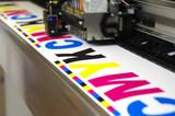 Plotter head printing CMYK - 187886360