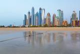 Dubai - The Marina towers from beach in evening light. - 187886906