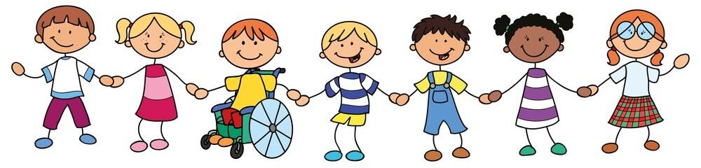 Kinder aus verschiedenen Ländern - Vektor-Illustration