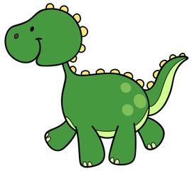 Niedlicher Dinosaurier - Vektor-Illustration