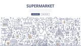 Supermarket Doodle Concept - 187889136