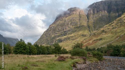 Aluminium Blauwe hemel Glencoe valley view 01
