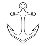 Anchor icon, outline style