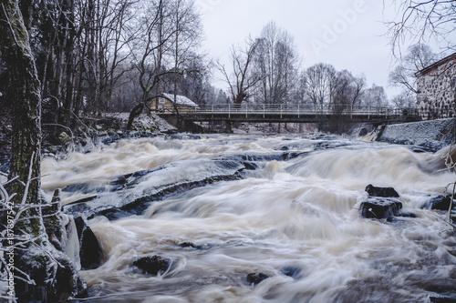 Foto op Canvas Lavendel Big river of Sjundby