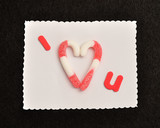 I love you. The love is replaced with candy canes in the shape of a heart - 187897969