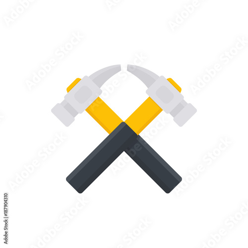 crossed hammers vector logo