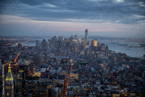 Foto op Plexiglas New York Manhattan skyline