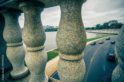 Foto Murales Downtown of Arlington in Virginia and Potomac River
