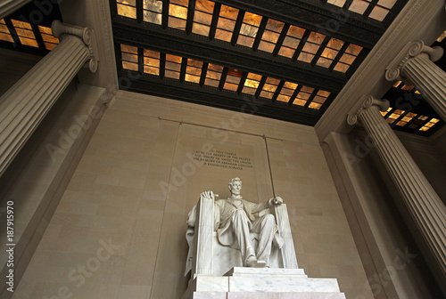 Abraham Lincoln Memorial in Washington, D.C. - Wide-Angle Shot Poster