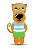 Tiger cartoon cute animal kid