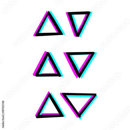 Fototapeta Hand painted decorative geometry shapes.