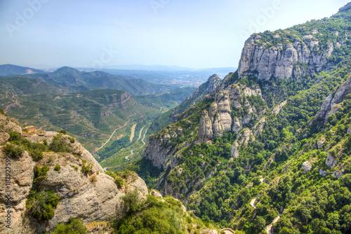 Foto op Canvas Barcelona Montserrat Mountain