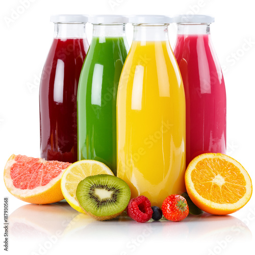 Papiers peints Jus, Sirop Saft Smoothie Smoothies Flasche Fruchtsaft Frucht Quadrat Früchte isoliert freigestellt Freisteller