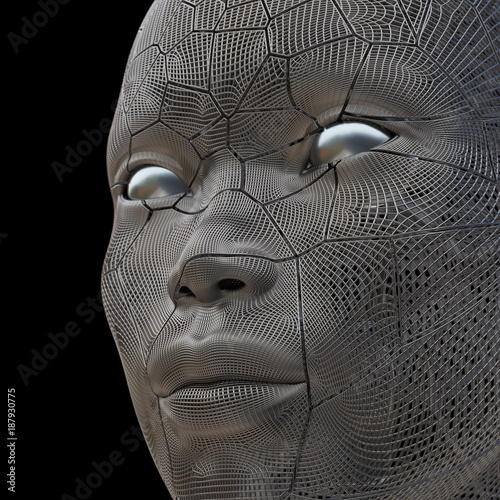 cracked human face