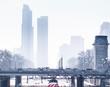 Foggy Chicago Rails