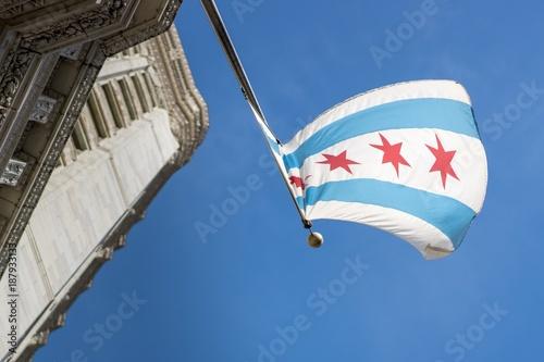Poster Chicago Upward Chicago Flag