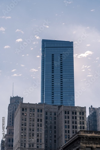 Poster Chicago Winter Morning Skyscraper